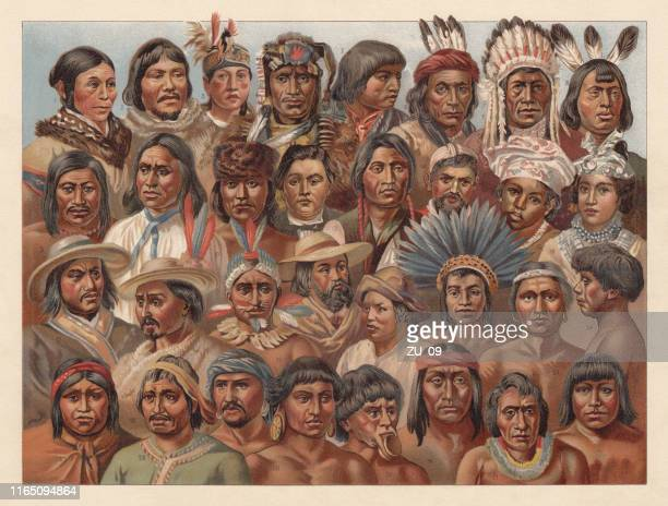 Amrican Native People, chromolithograph, published in 1896