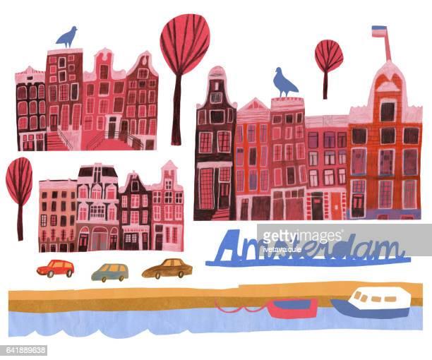 amsterdam - amsterdam stock illustrations, clip art, cartoons, & icons