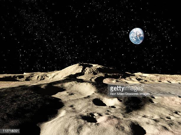 an ancient lava flow on earth's moon. - volcanic crater stock illustrations, clip art, cartoons, & icons