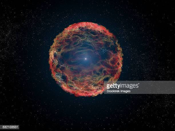 An artists impression of supernova 1993J.