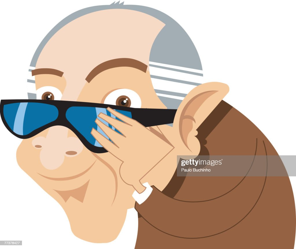 An elderly businessman wearing sunglasses : Illustration