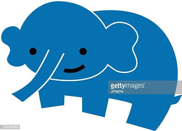 an elephant - cartoon characters with big noses stock illustrations, clip art, cartoons, & icons