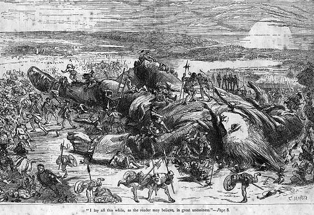 An illustration from 'Gulliver's Travels' by Irish...