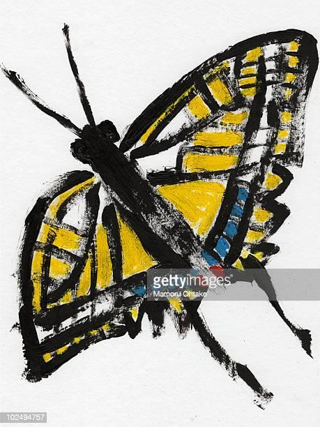 an illustration of a butterfly - animal limb stock illustrations, clip art, cartoons, & icons
