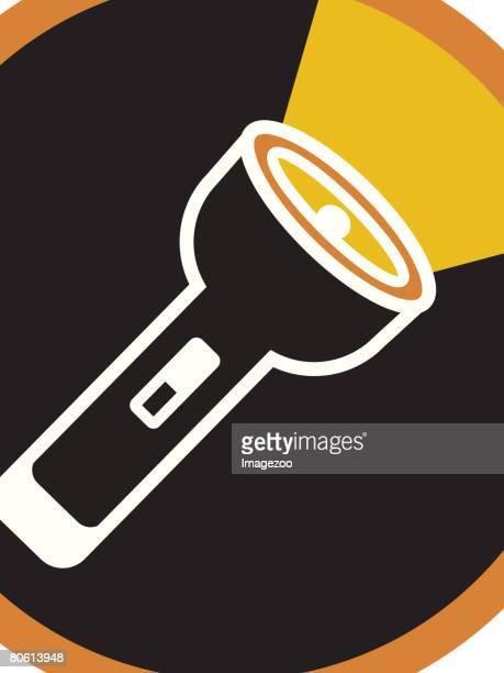 an illustration of a flashlight - flashlight beam stock illustrations, clip art, cartoons, & icons