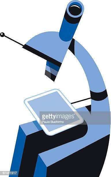 ilustrações de stock, clip art, desenhos animados e ícones de an illustration of a microscope - buchinho