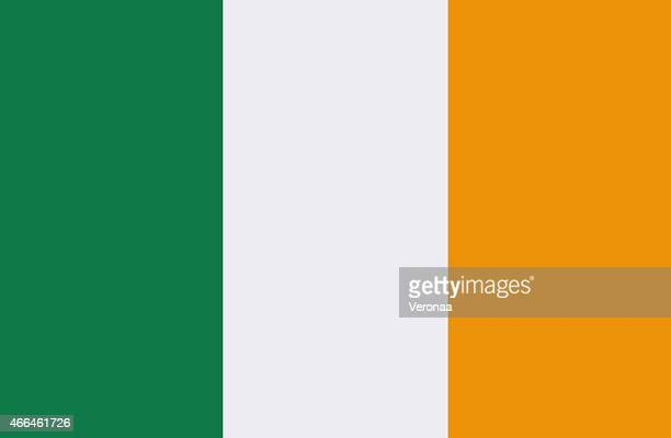 An illustration of the Irish flag with green, white & yellow