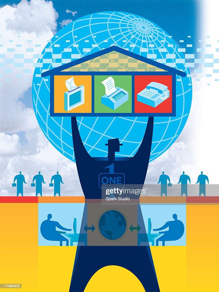 An illustration of the technology fusion : Illustration