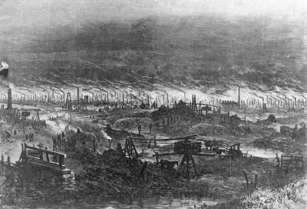 An industrial landscape around Wolverhampton showing...