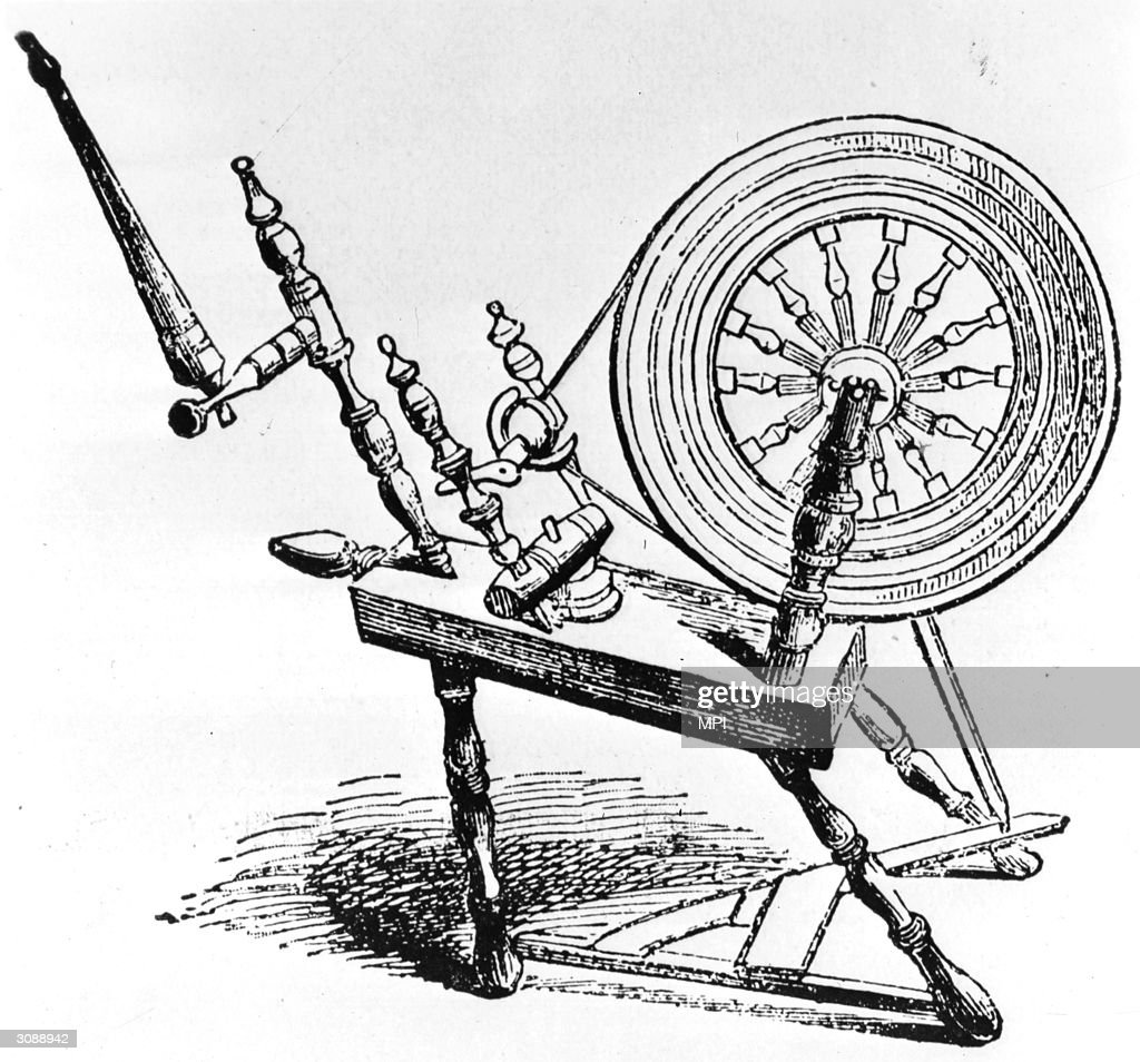 An Old English Spinning Wheel For Spinning Yarn News Photo Getty Images