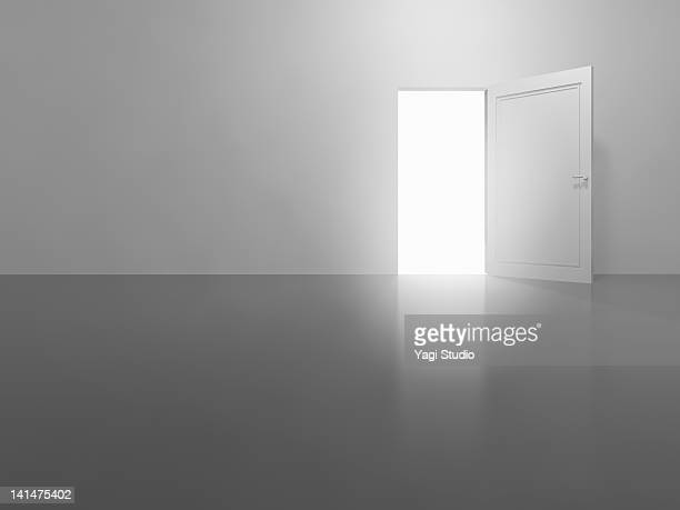 an open white door,cg - composition stock illustrations