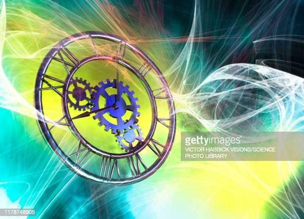 analogue clock, illustration - instrument of measurement stock illustrations