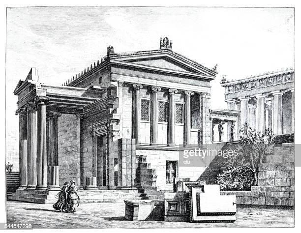ilustrações, clipart, desenhos animados e ícones de antiga acrópole - partenão acrópole