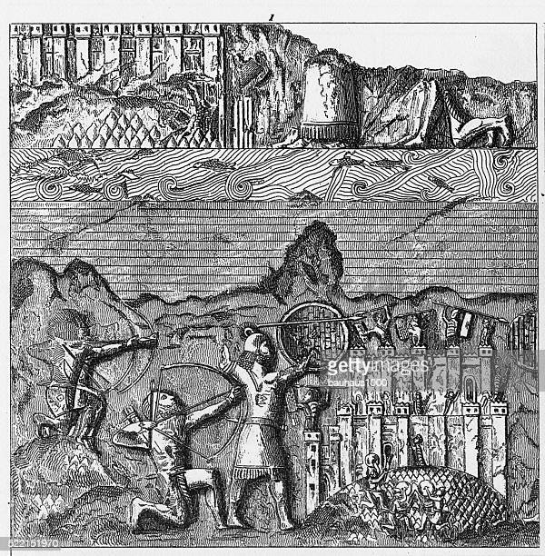 Ancient Architecture and Sculpture of Nineveh Engraving