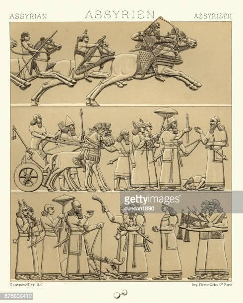 Ancient Assyrian, Kings and lords, Hunting and at War