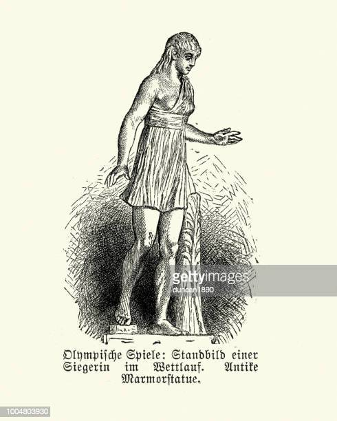 ancient athlete - ancient olympic games stock illustrations, clip art, cartoons, & icons