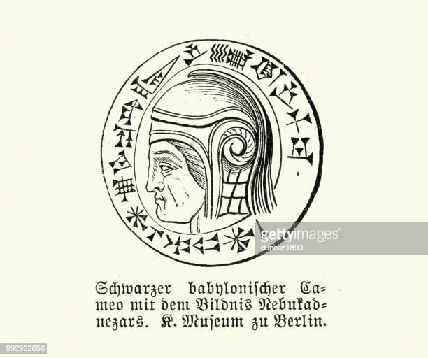 ancient babylonian with cuneiform script - ancient babylon stock illustrations