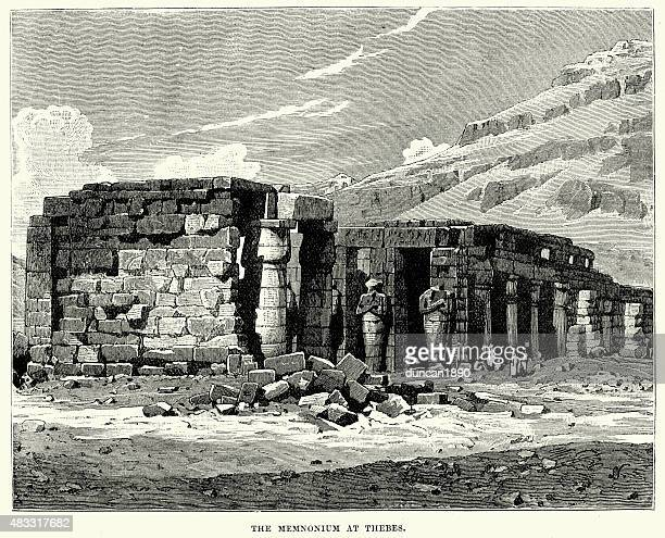 Ancient Egypt - Ruins of the Ramesseum at Thebes