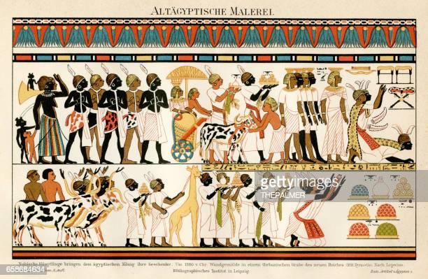 illustrations, cliparts, dessins animés et icônes de chromolithographie égyptienne antique 1895 - hiéroglyphe