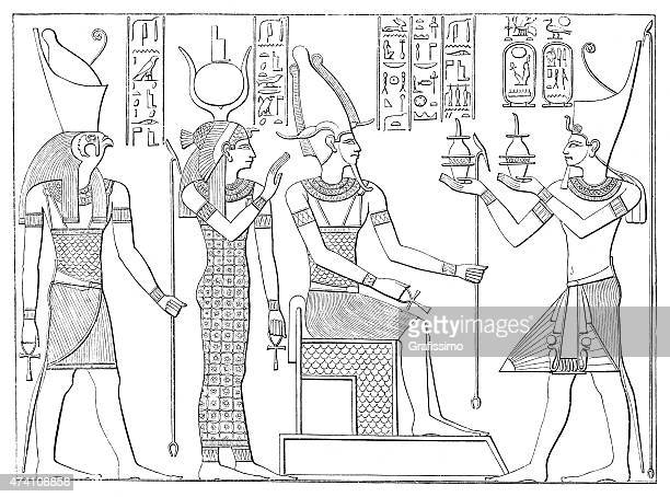 illustrations, cliparts, dessins animés et icônes de l'egypte ancienne hieroglyph de osiris isis horus - hiéroglyphe