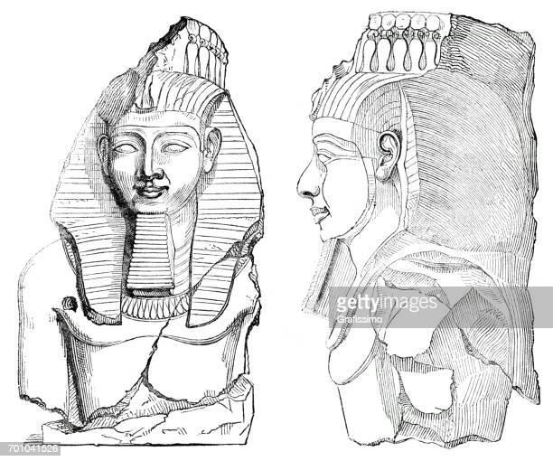 Antigua estatua egipcia joven Memnon Tebas Egipto