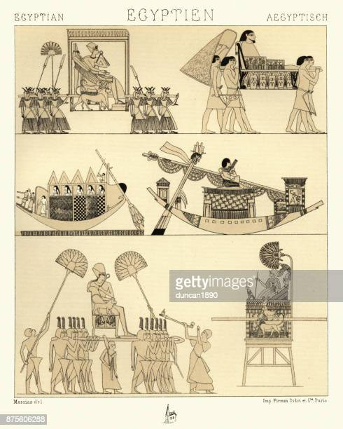Ancient egyptian transport - Palanquins and boats