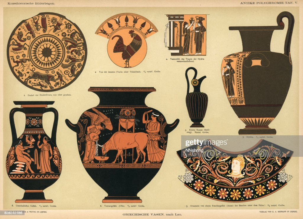 Ancient Grecian Vases Stock Illustration Getty Images
