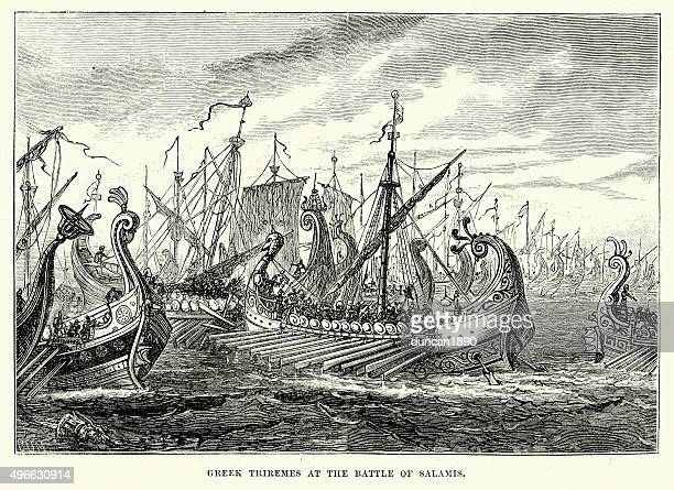 Ancient Greece - Greek Triremes at the Battle of Salamis