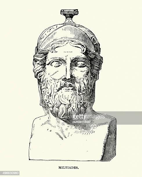 ancient greece - miltiades - ancient civilization stock illustrations, clip art, cartoons, & icons