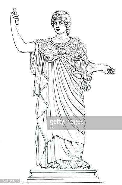 古代ギリシャ - アテナの肖像画 - アテネ点のイラスト素材/クリップアート素材/マンガ素材/アイコン素材
