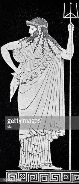 古代ギリシャの神ポセイドン - ポセイドン点のイラスト素材/クリップアート素材/マンガ素材/アイコン素材