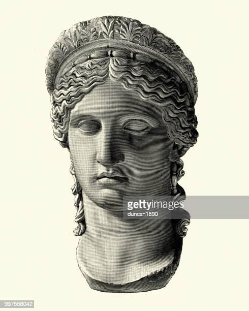 ilustrações, clipart, desenhos animados e ícones de mitologia grega, deusa hera - cultura grega