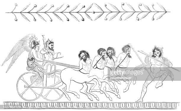 Ancient Greek Parody Depiction of 'The Apotheosis of Heracles'