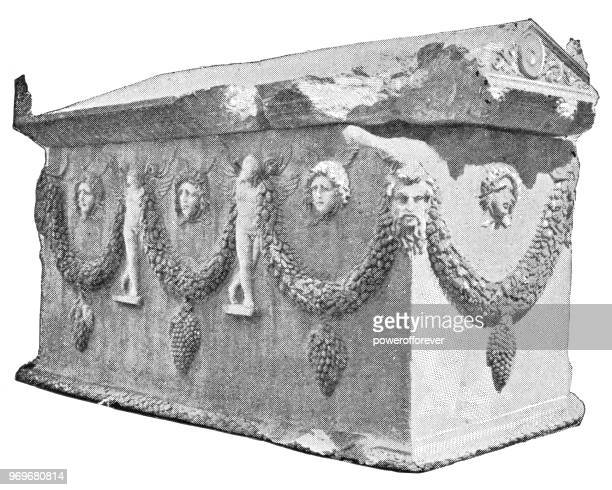 Ancient Greek Sarcophagus - Ottoman Empire