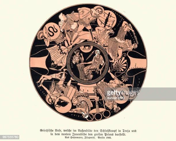 Ancient Greek vase design, Warriors and heros of mythology
