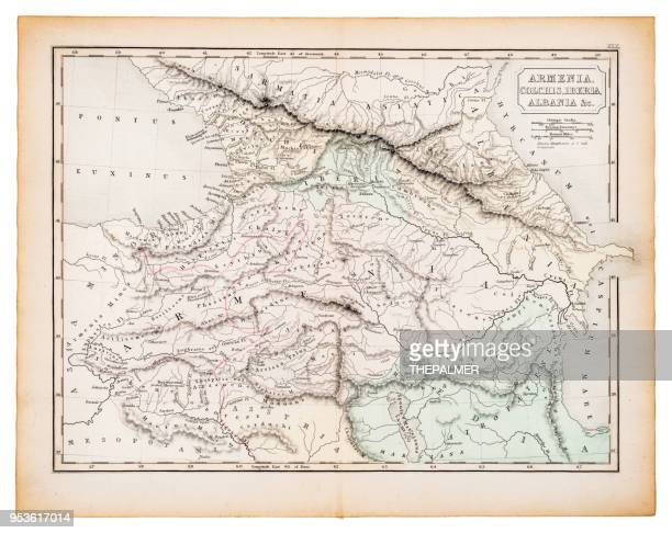 Ancient map of Armenia and Albania 1863