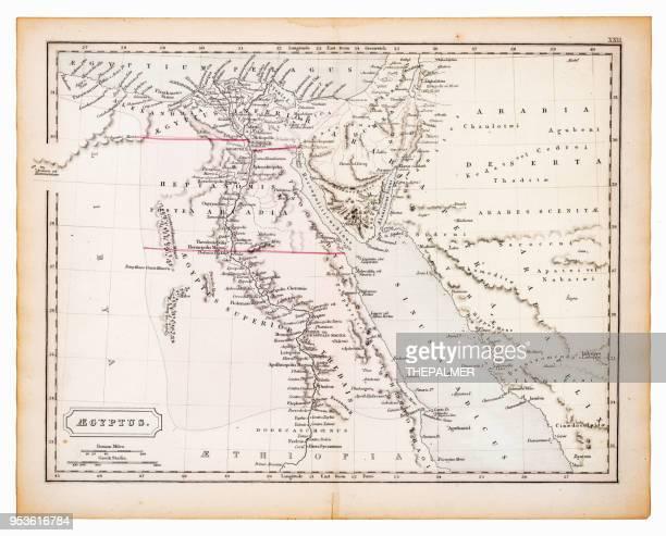 ilustrações, clipart, desenhos animados e ícones de mapa antigo do egito, 1863 - ethiopia
