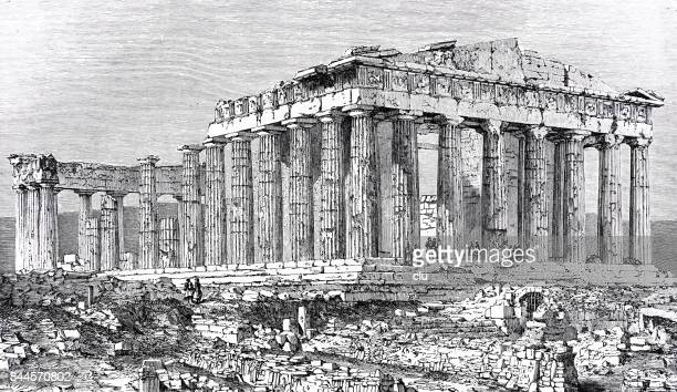 Ancient pantheon on the acropolis