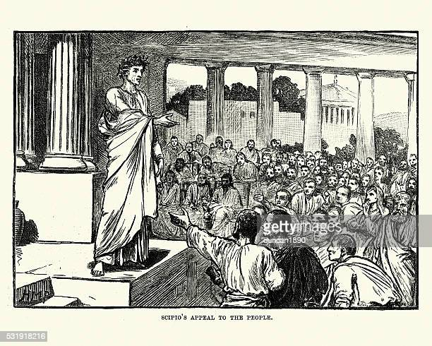 Ancient Roman Scipio's appeal to the people