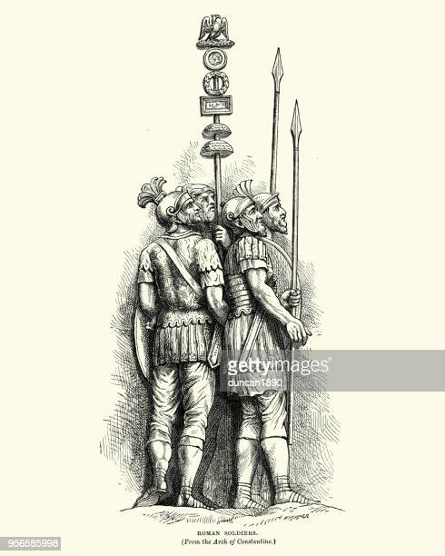Ancient Roman Soldiers, from Arch of Constantine