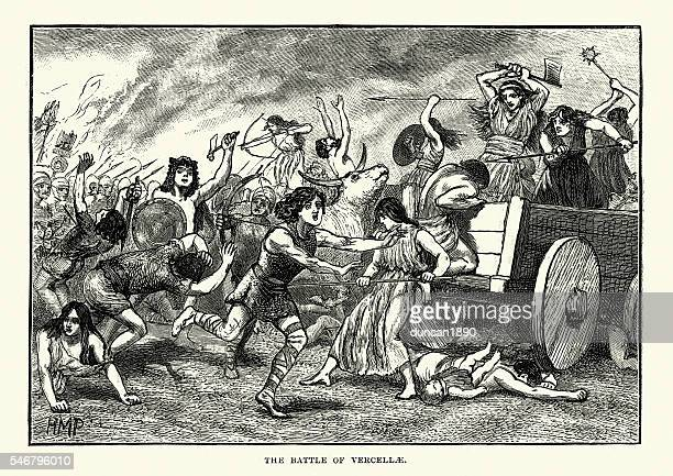ancient rome - battle of vercellae - warrior person stock illustrations, clip art, cartoons, & icons