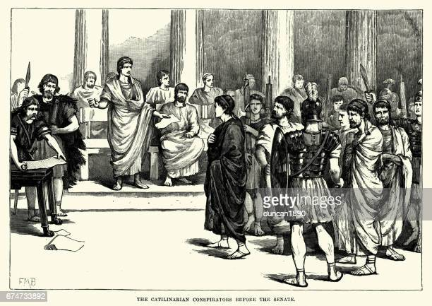Ancient Rome - Catilinarian conspirators before the Senate