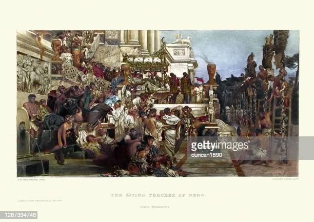 古代ローマ、ネロのたいまつ、キリスト教の殉教者が生きて燃えた - 新古典派点のイラスト素材/クリップアート素材/マンガ素材/アイコン素材