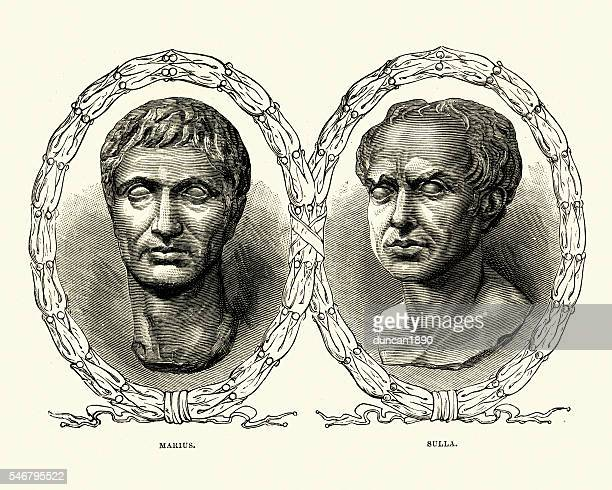 Ancient Rome - Portraits of Marius and Sulla
