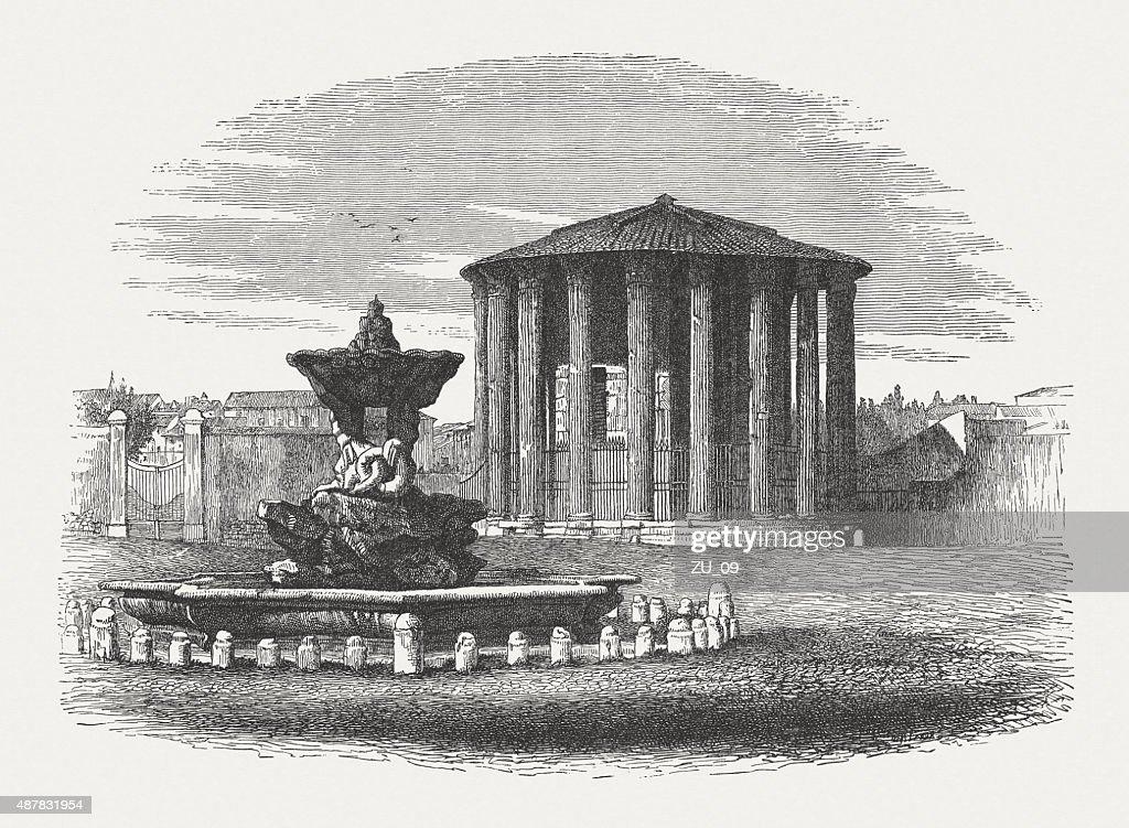 古代寺院のハーキュリーズヴィクターローマで1878 年に発表された ...