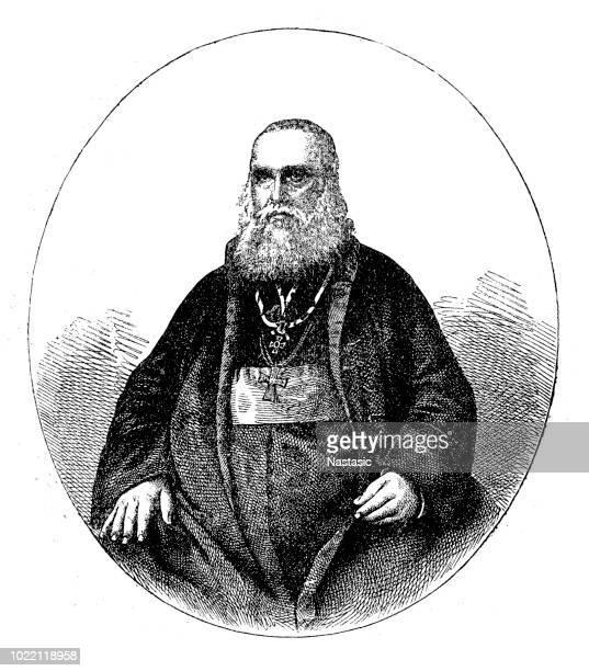 ilustrações, clipart, desenhos animados e ícones de andrei șaguna foi um metropolita da igreja ortodoxa romena na transilvânia e um dos líderes políticos comunidade romena na monarquia de habsburgo - bishop clergy
