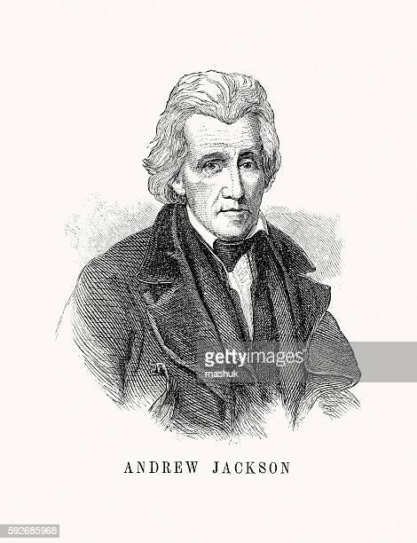 andrew jackson - president stock illustrations, clip art, cartoons, & icons