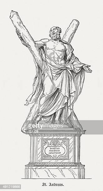 ilustrações de stock, clip art, desenhos animados e ícones de andrew o apóstolo, publicada em 1878 - st. peter's basilica the vatican