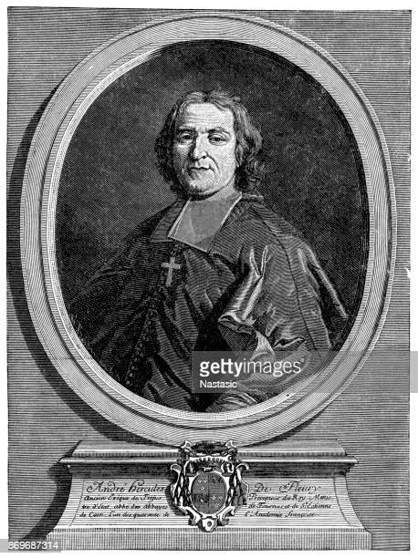 ilustrações, clipart, desenhos animados e ícones de andré-hercule de fleury, bispo de fréjus (22 de junho ou 26 de junho de 1653 – 29 de janeiro de 1743) francês cardeal - bishop clergy