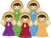 Angel choir singing